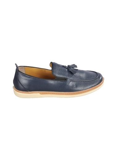 Ayakmod 015 Siyah Erkek Günlük Hakiki Deri Ayakkabı Lacivert